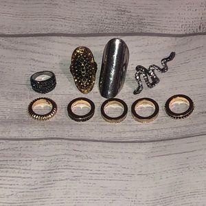 Fashion Rings Lot